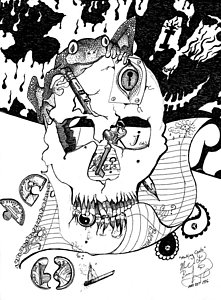 221x300 Cracked Skull Drawings Fine Art America