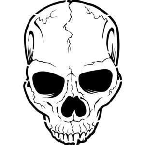 300x300 Cracked Skull Stencil By Crafty Stencils