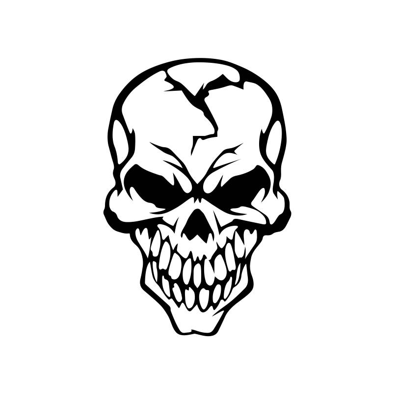807x807 Skull Cracked Human Head Graphics Svg Dxf Eps Png Cdr Ai Pdf