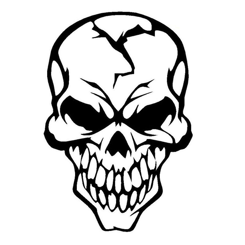 800x800 Buy 8.112cm Skull Cracked Human Head Car