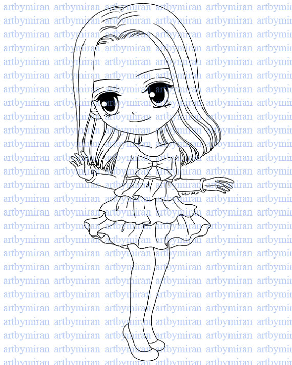 570x713 Digital Stamp Sweet Claire, Digi Stamp, Coloring Page, Printable