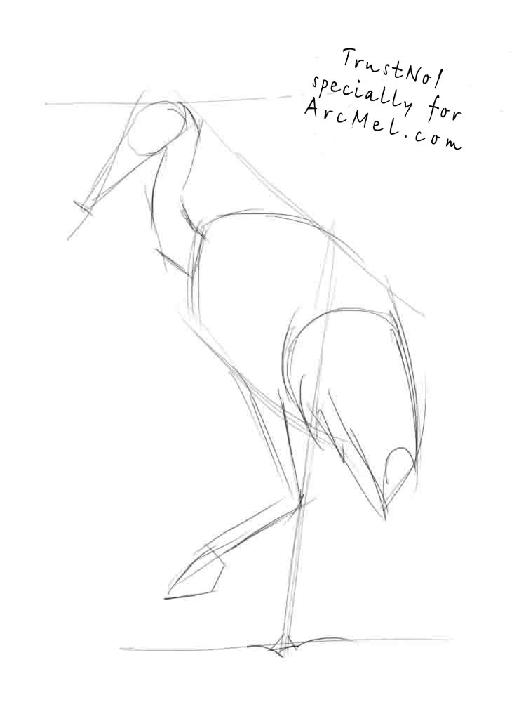 750x1000 How To Draw A Crane Step By Step