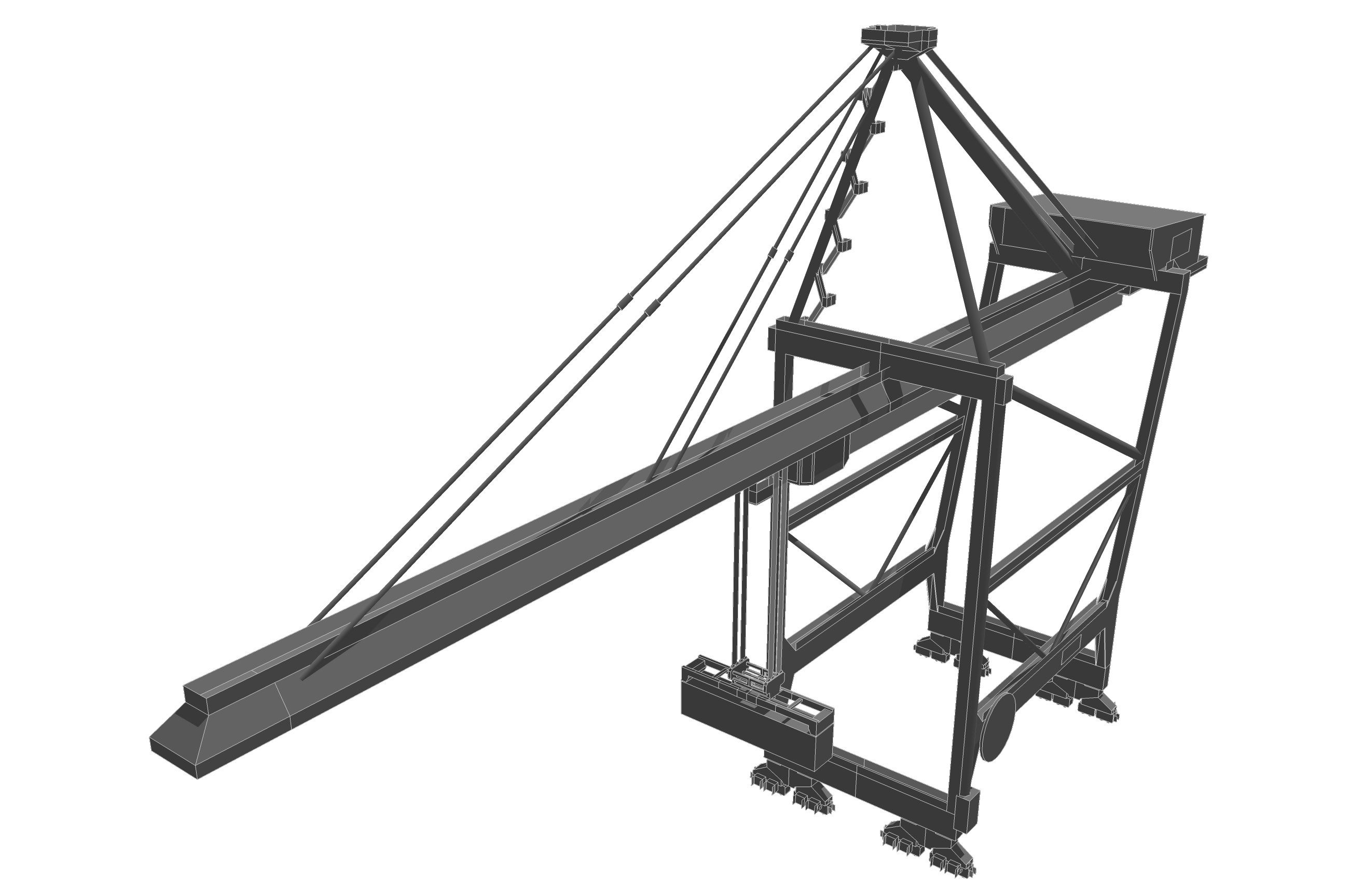 2600x1728 Container Crane 3d Asset Cgtrader