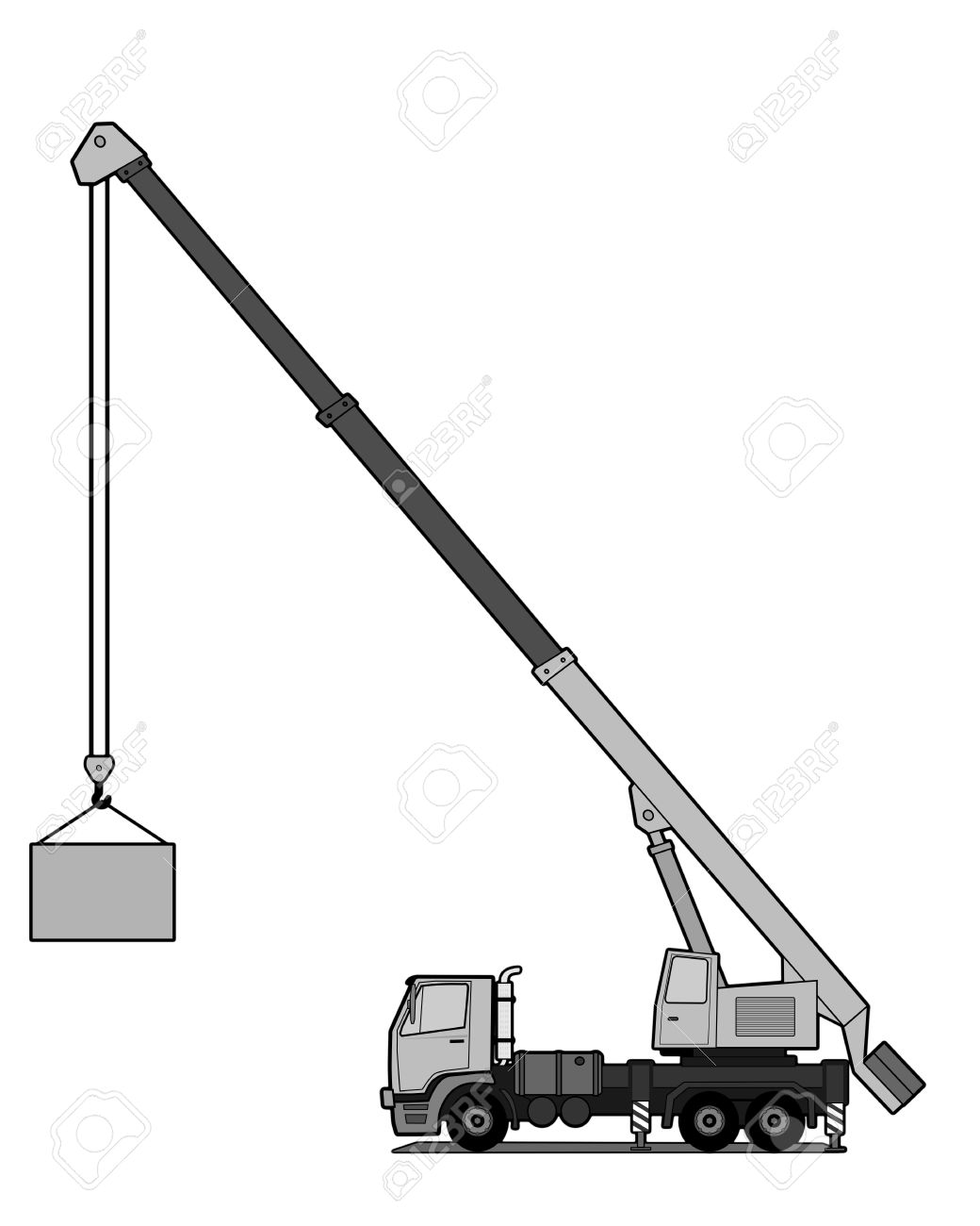 1040x1300 Crane Truck Royalty Free Cliparts, Vectors, And Stock Illustration