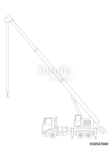 375x500 Crane Truck Vector Stock Image And Royalty Free Vector Files
