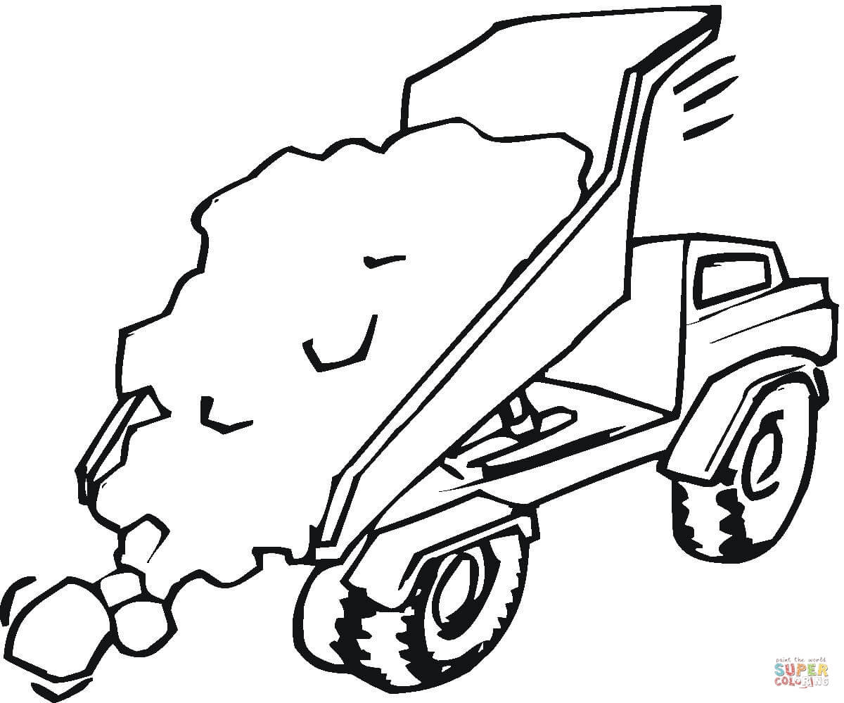 1200x999 Truck With Crane Coloring Page Free Printable Coloring Pages