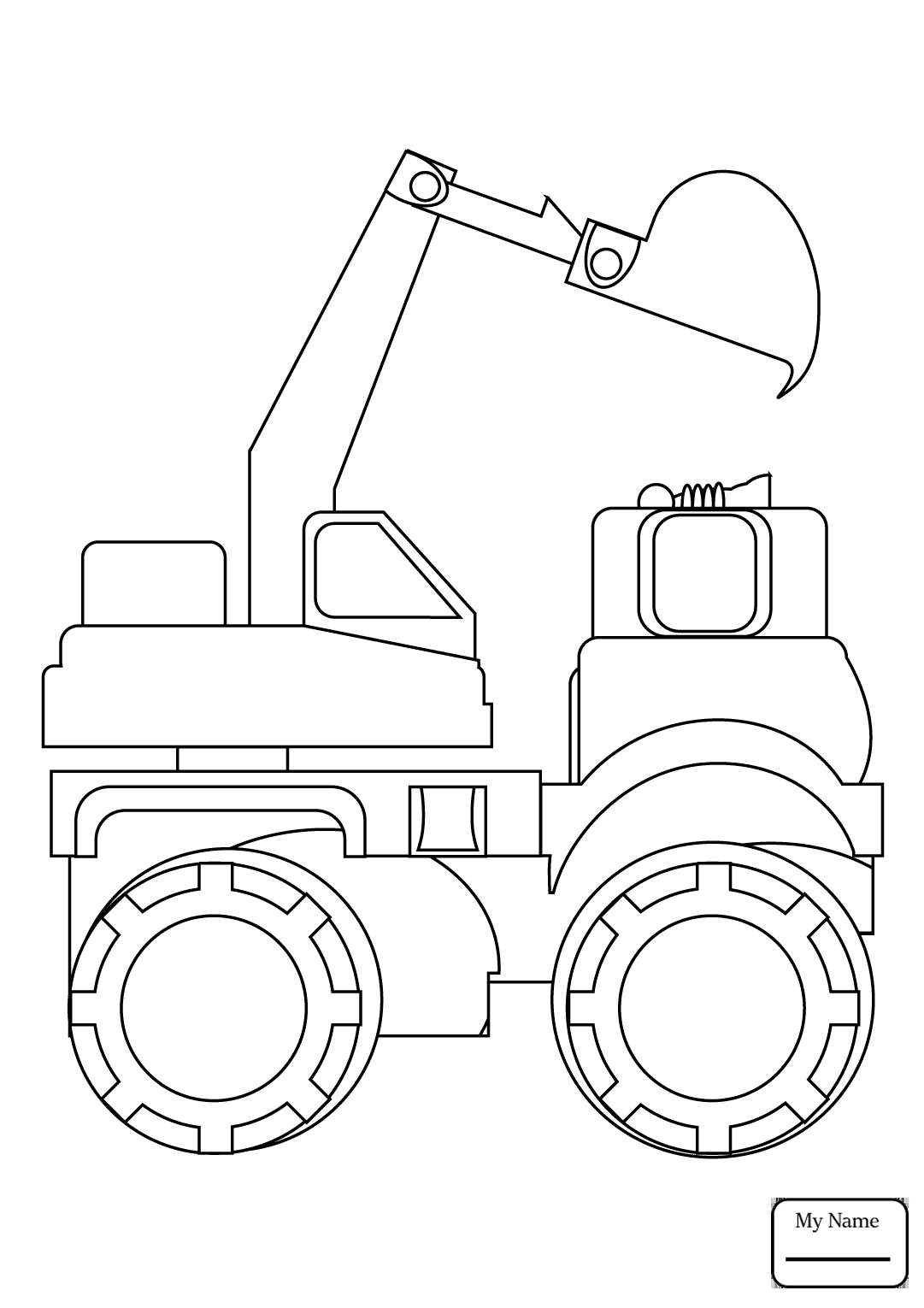 1081x1530 Coloring Pages Crane Truck Transport