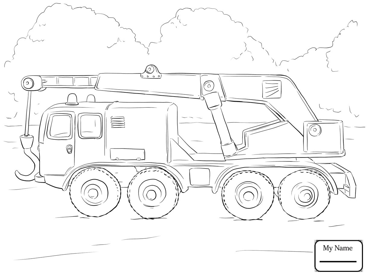 1224x918 Coloring Pages For Kids Crane At Work Transport