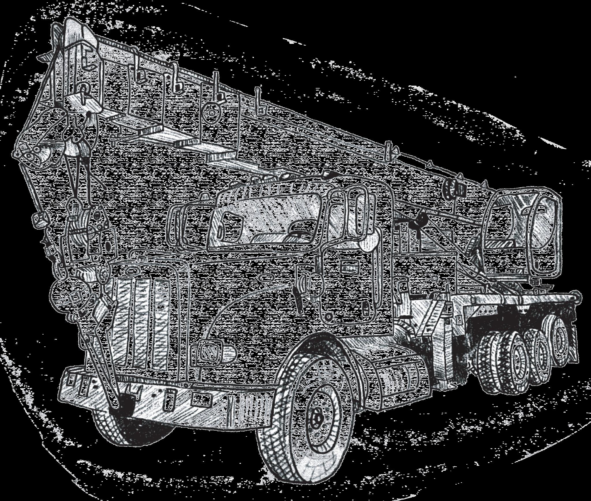 crane truck drawing at getdrawings com