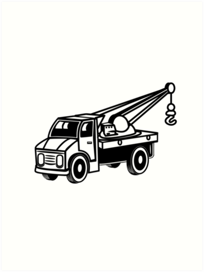 413x549 Car Toy Truck Crane Tow Truck Mounted Crane Truck Art Prints By