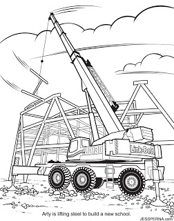252x320 Coloring Book Illustrator For Construction Crane Drawings How