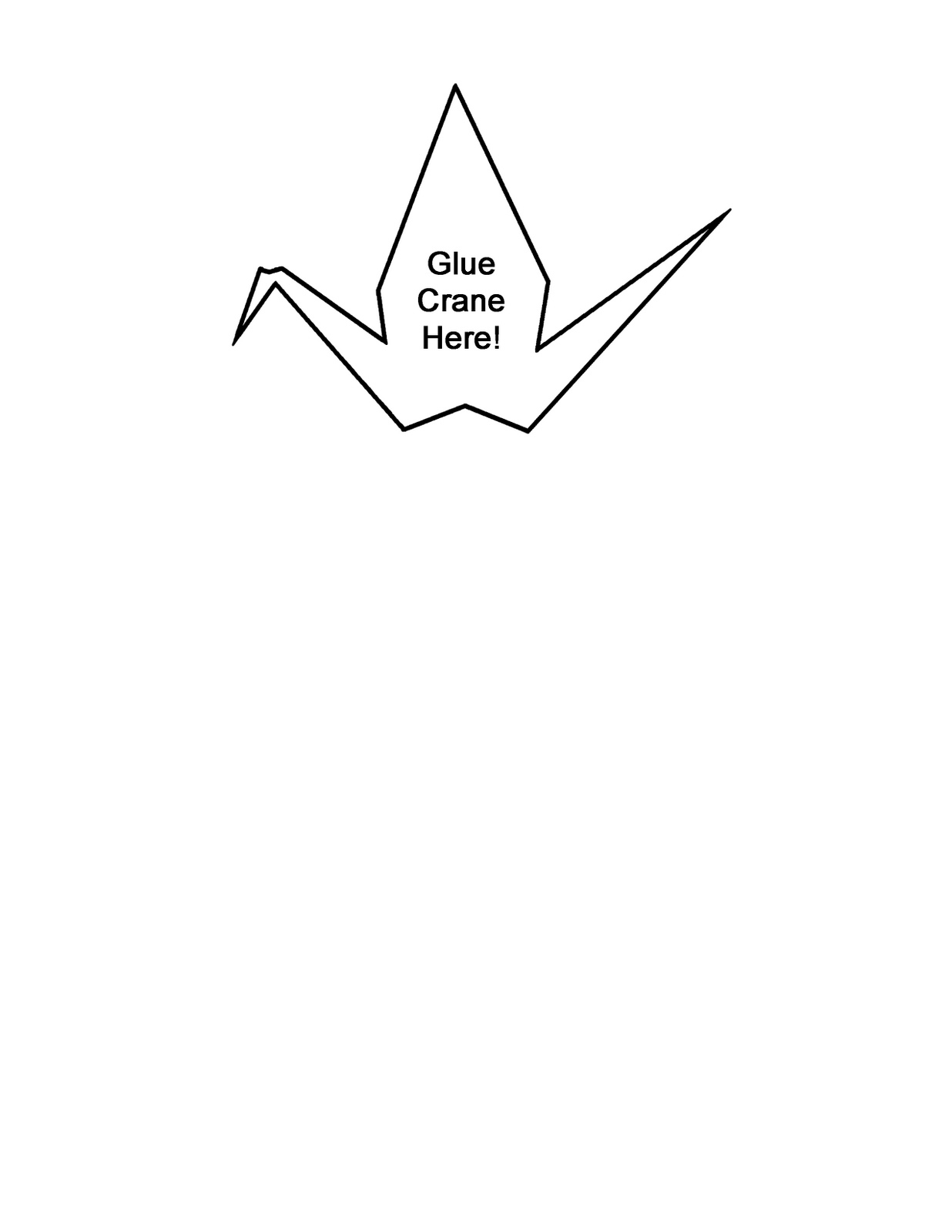 1236x1600 Cranes Of Thanks Crane Outlines