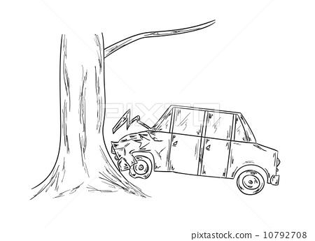 450x345 Car Accident Sketch