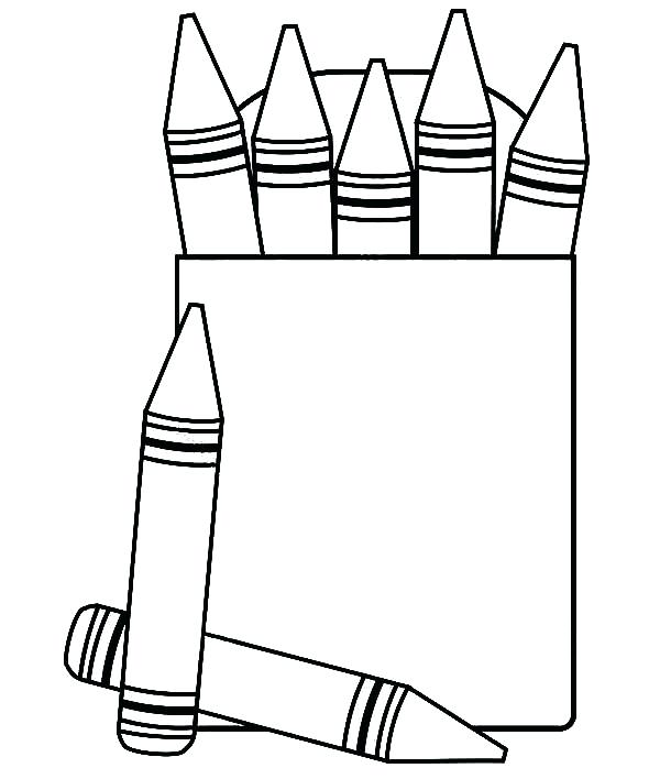 600x708 Crayons Coloring Pages Crayon Box Coloring Page View Larger