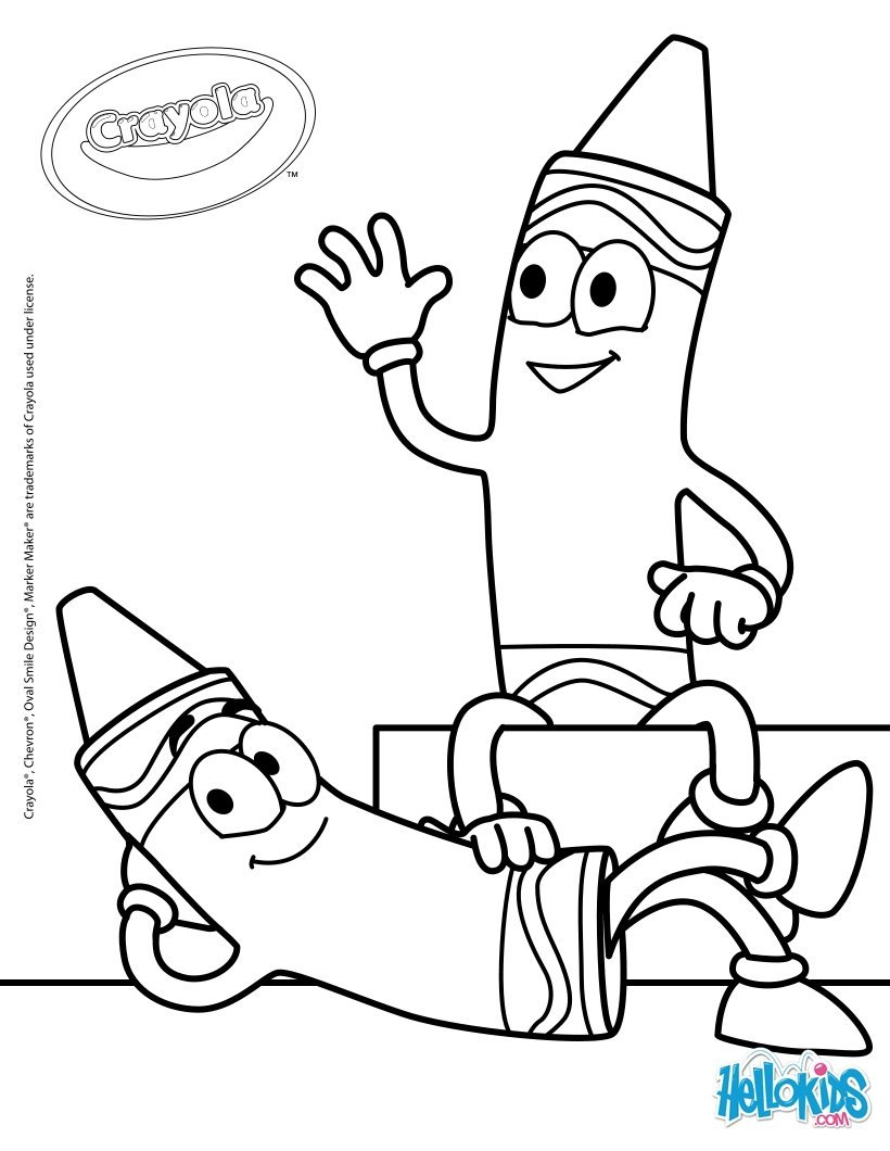 820x1060 Crayola Crayon Coloring Pages Coloring Page For Kids