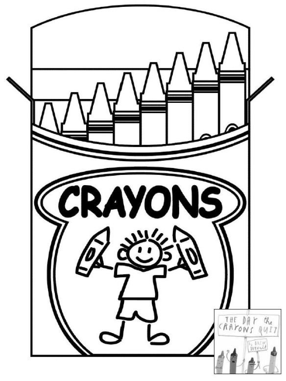 584x778 The Day The Crayons Quit Coloring Sheet