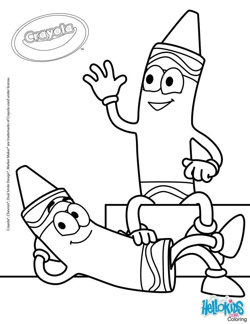820x1060 Crayola Crayons History Coloring Page
