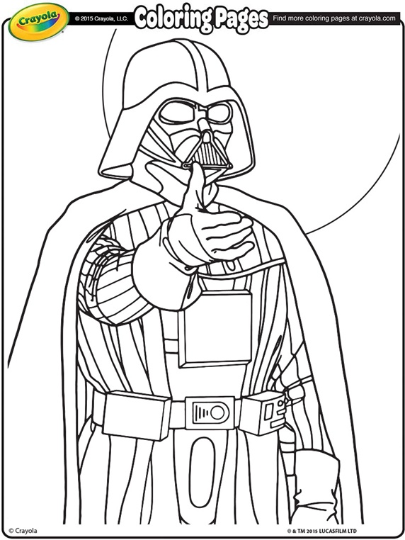 Disney Coloring Pages In New 572x762 Star Wars Darth Vader On Desenhos Para Colorir