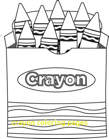 376x480 Crayon Coloring Pages With Crayon Box Coloring Pages Printable