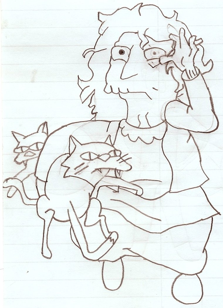 760x1050 The Simpsons Crazy Cat Lady By Suian Kumori