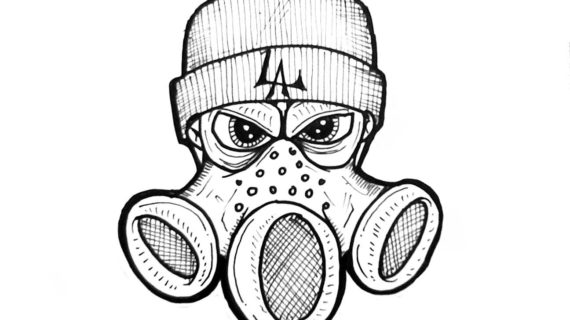 570x320 Skull With Gas Mask Drawing How To Draw Gas Mask Crazy Character