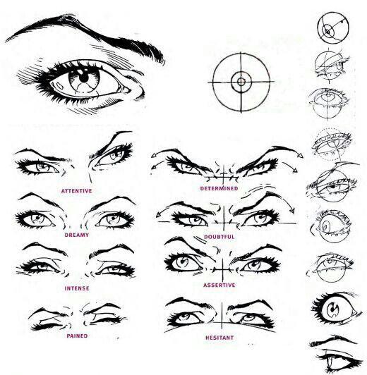 Crazy Eyes Drawing