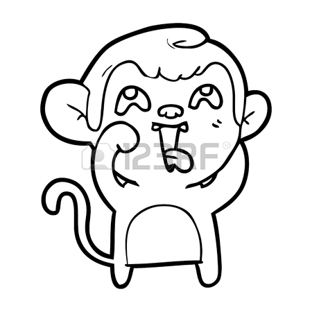 450x450 1,236 Crazy Monkey Cliparts, Stock Vector And Royalty Free Crazy