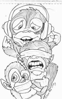236x378 Crazy Monkey Drawing By Crazy Crazy Monkey Crazy Monkey Tattoo