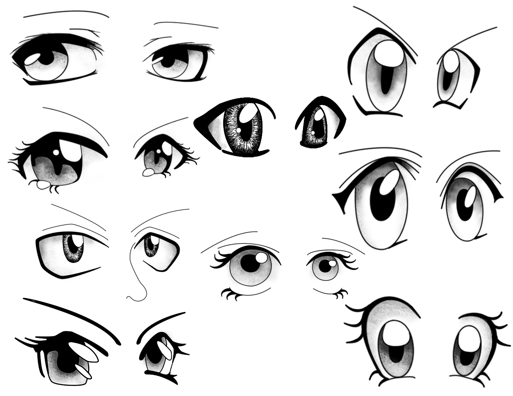 1650x1275 Drawing Cartoon Eyes Cartoon Eyes, Mix And Match To Create Your
