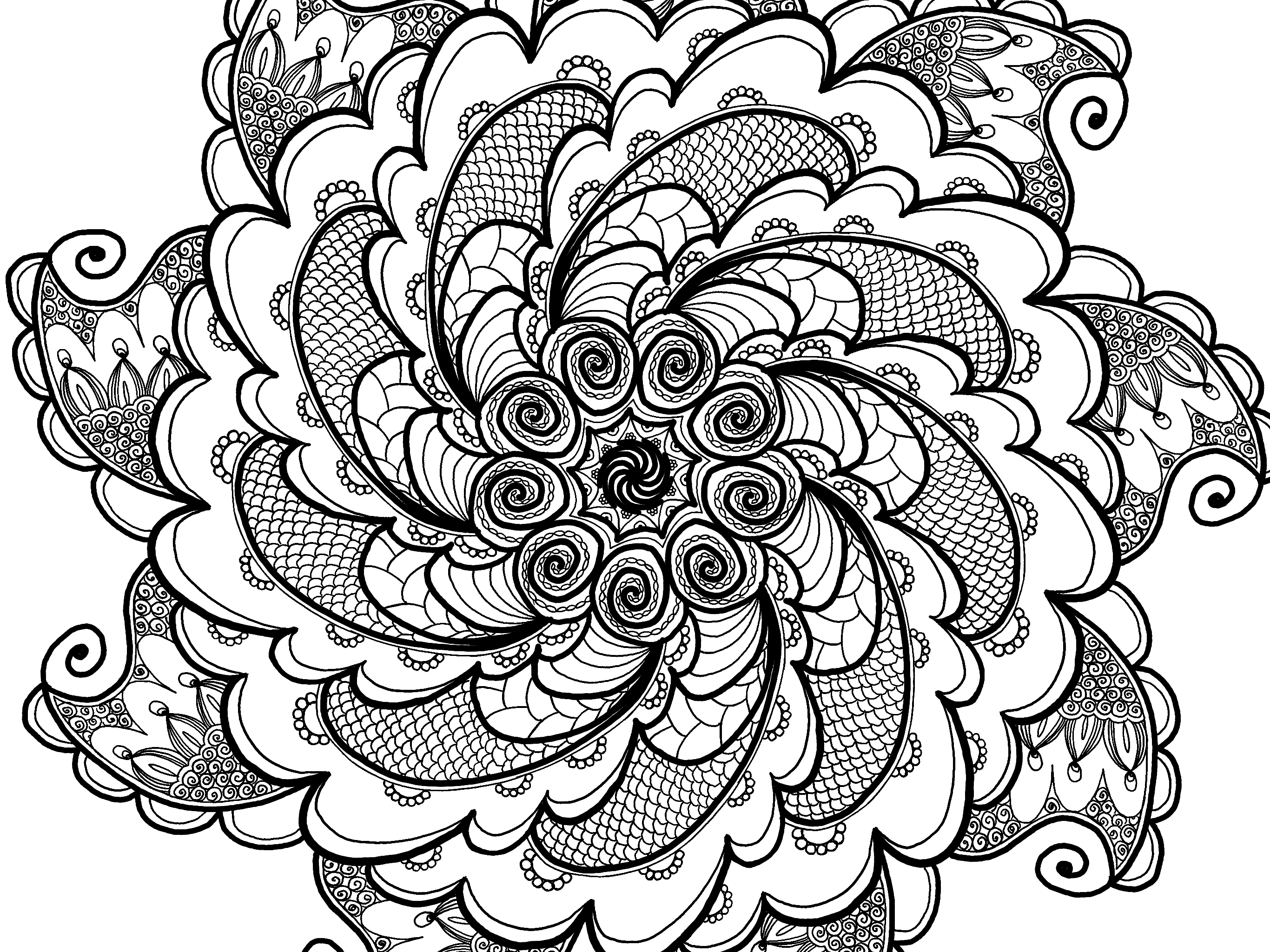 creative coloring pages for teens - photo#8