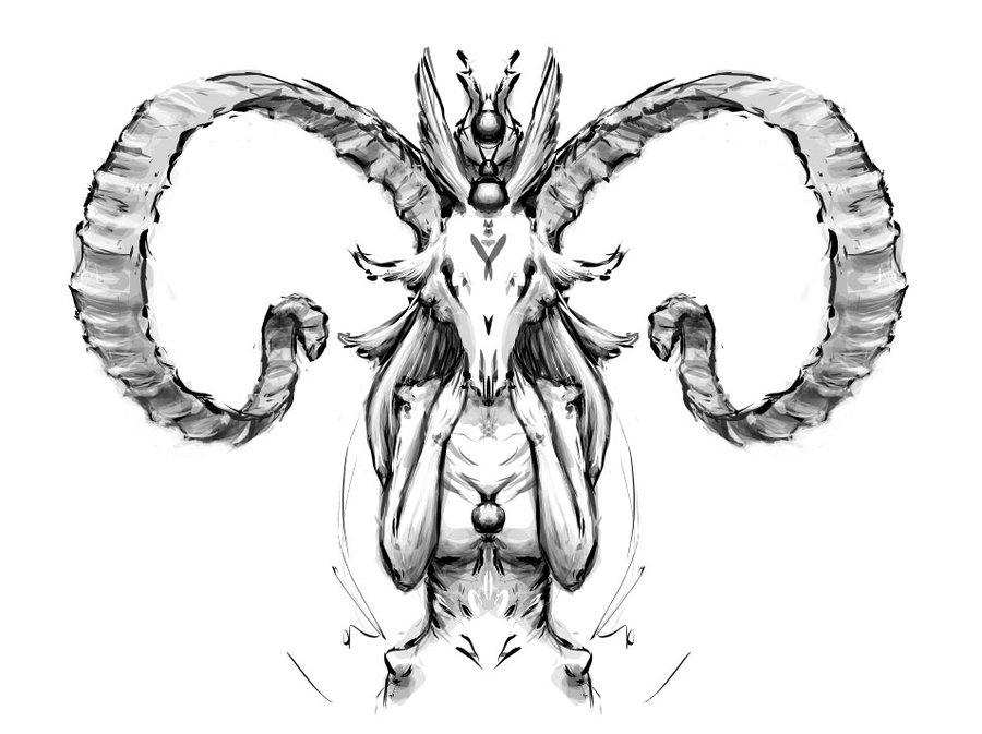 900x673 Demonic Creature By Myrmirada