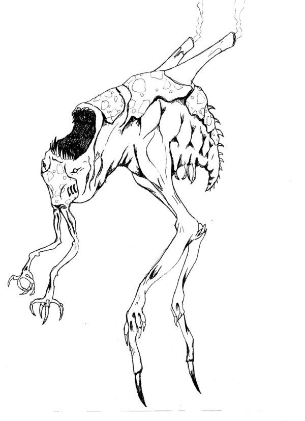 600x826 Stalker A Demonic Creature By Mistymiasma
