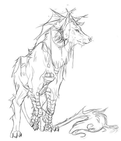499x580 Wolf Creature By Jawbone Ashtray