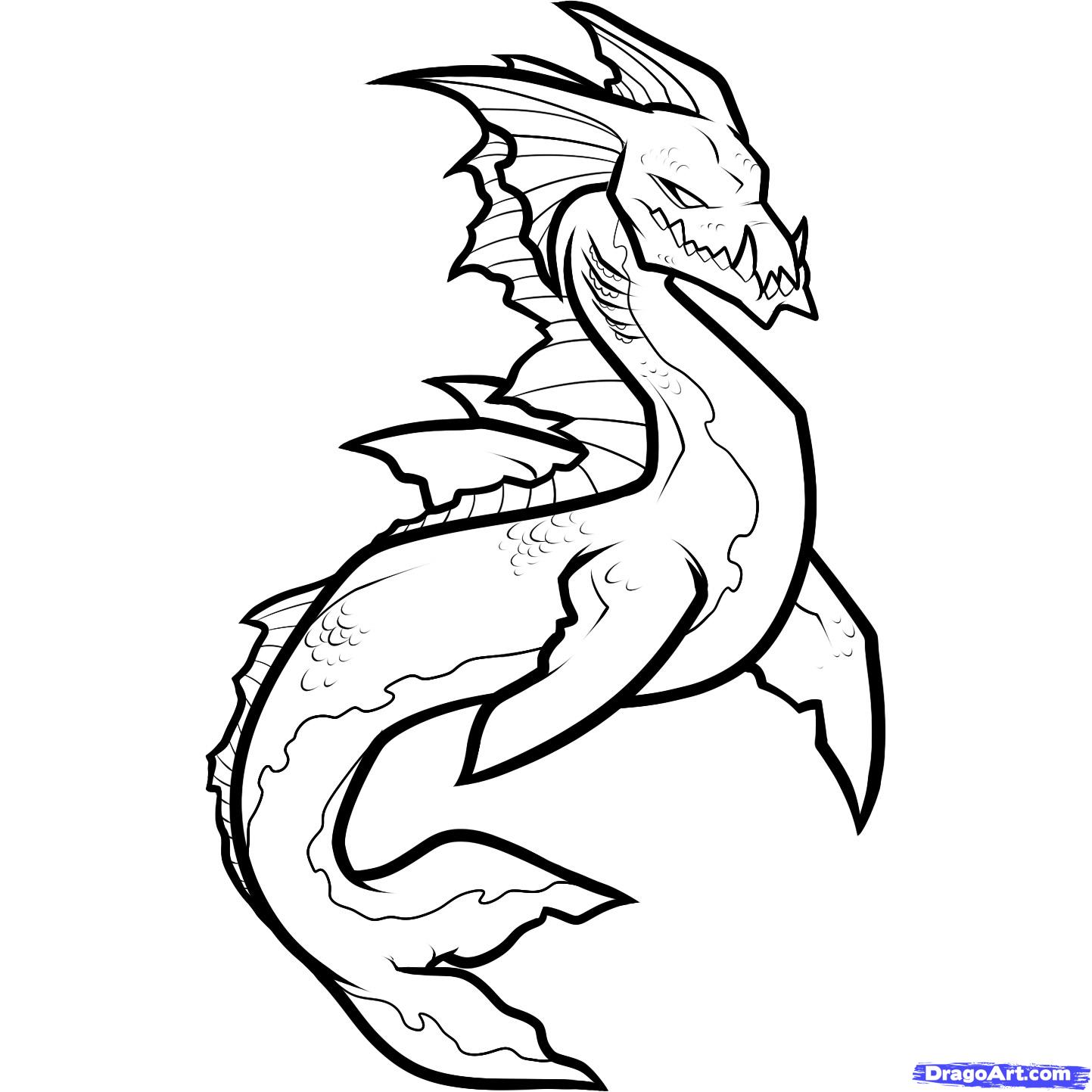 1443x1443 Monster Creature How To Draw A Sea Creature Sea Creature Step
