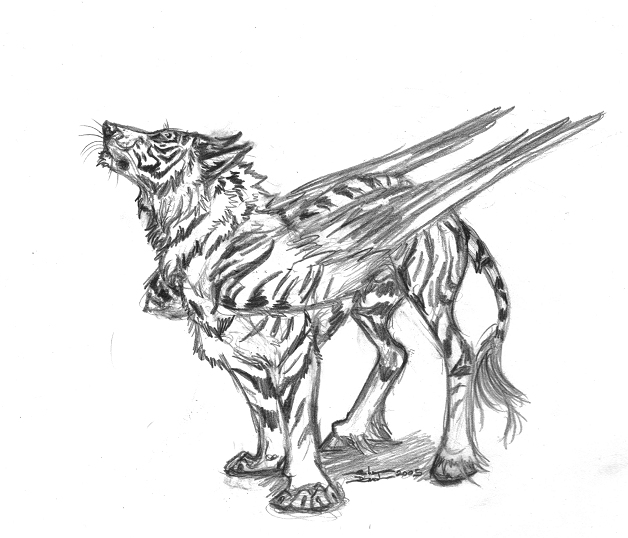628x538 Creature With Wings 2005 By Ebonytigress