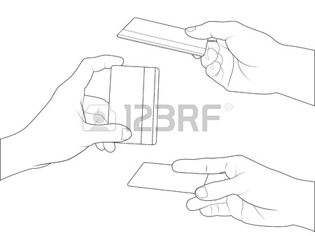 450x337 Drawing Of Hand Set On Grid Paper Use For Elements Design. Stock