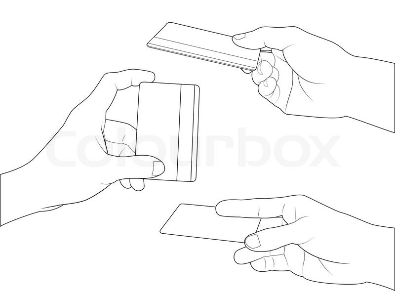 800x599 Hand Holding Credit Card Collection