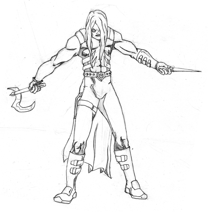 685x700 Grimm Creeper, Hand Scythe Weapons