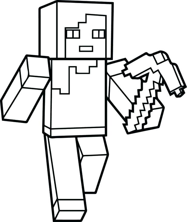 618x733 Amazing Minecraft Coloring Pages To Print And Fancy Free Coloring