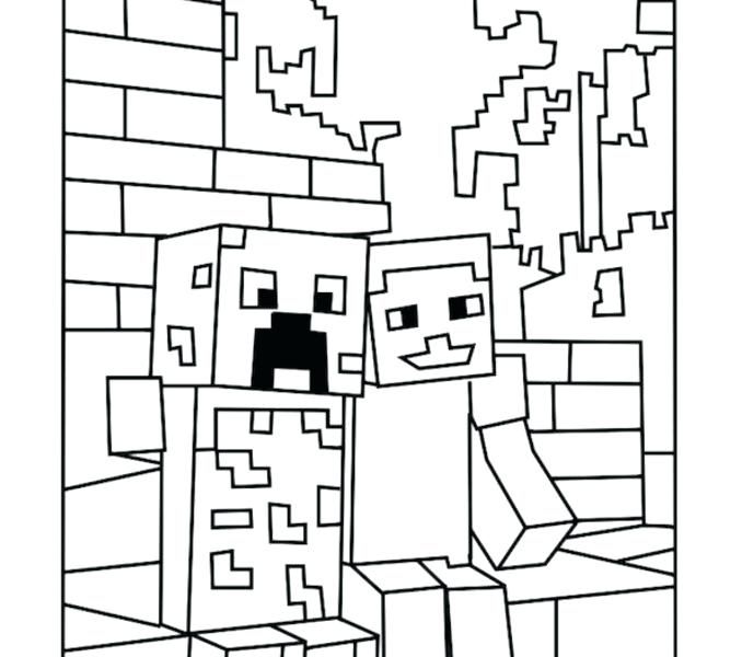 678x600 Printable Minecraft Coloring Pages Printable Coloring Pages Best