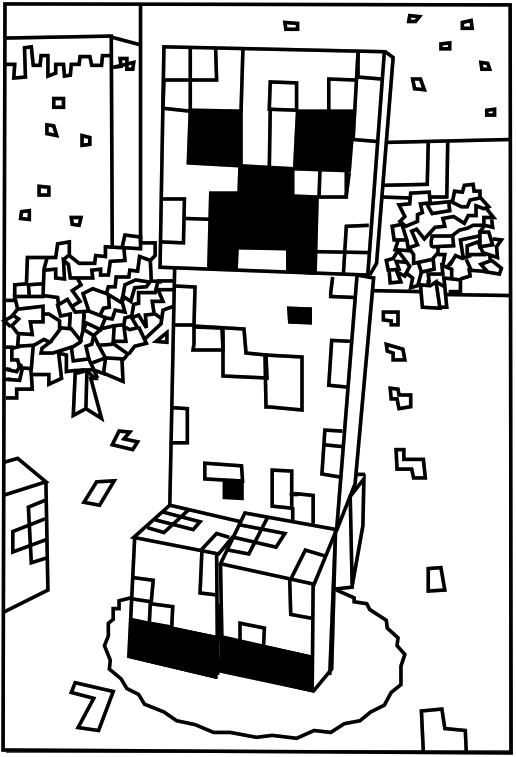 516x757 Printable Minecraft Creeper Coloring Pages. Elijah