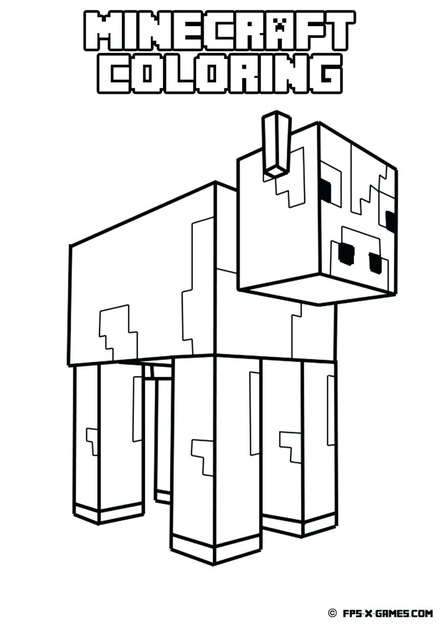 863x1221 Printable Minecraft Creeper Coloring Pages Printable