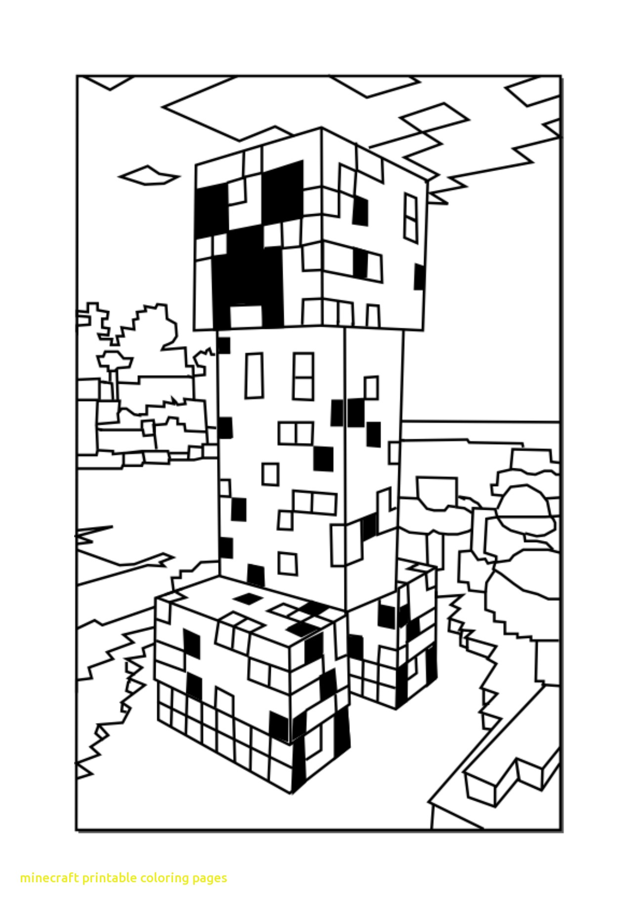 Creeper Minecraft Drawing At Getdrawings Com Free For Personal Use