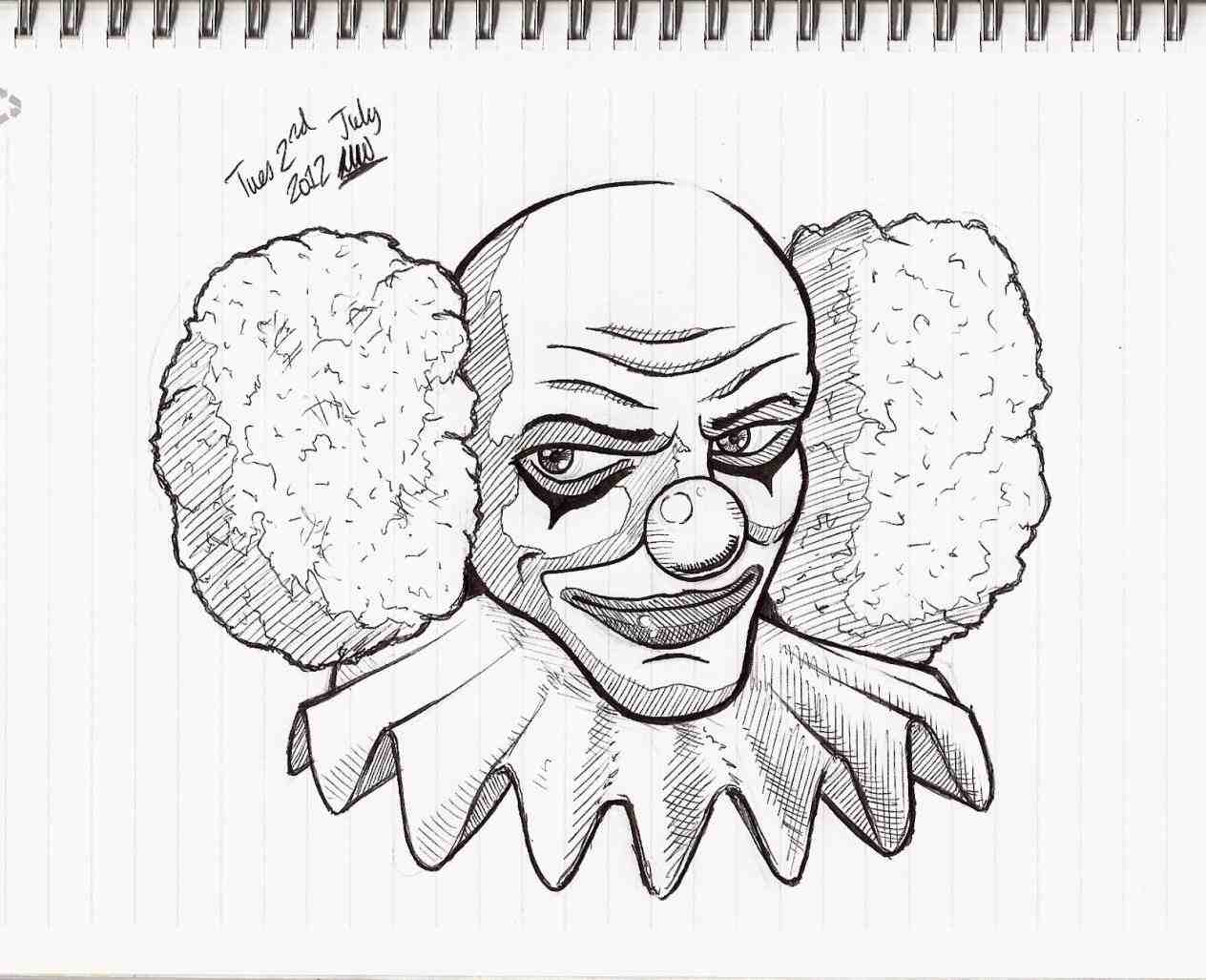 1264x1027 Scary Halloween Clowns Drawings Halloween Drawing. How To Draw