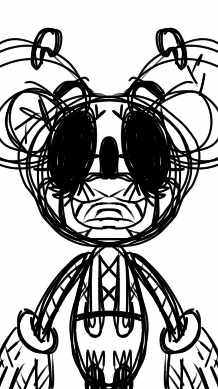 720x1280 Kinda Creepy Mickey Mouse By Waterbenderbre