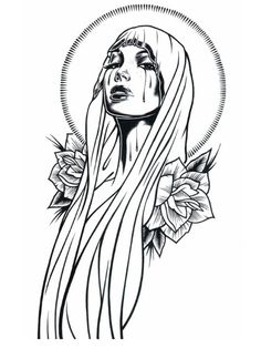 236x314 Artwork Of A Creepy Catholic Nun With No Eyes Filled With Tears