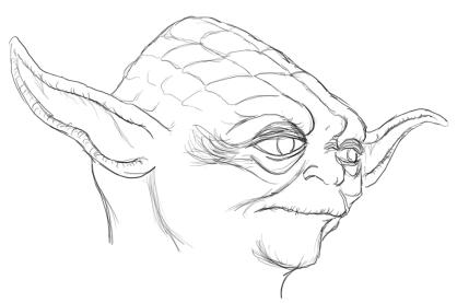 418x277 How To Draw Yoda Feltmagnet