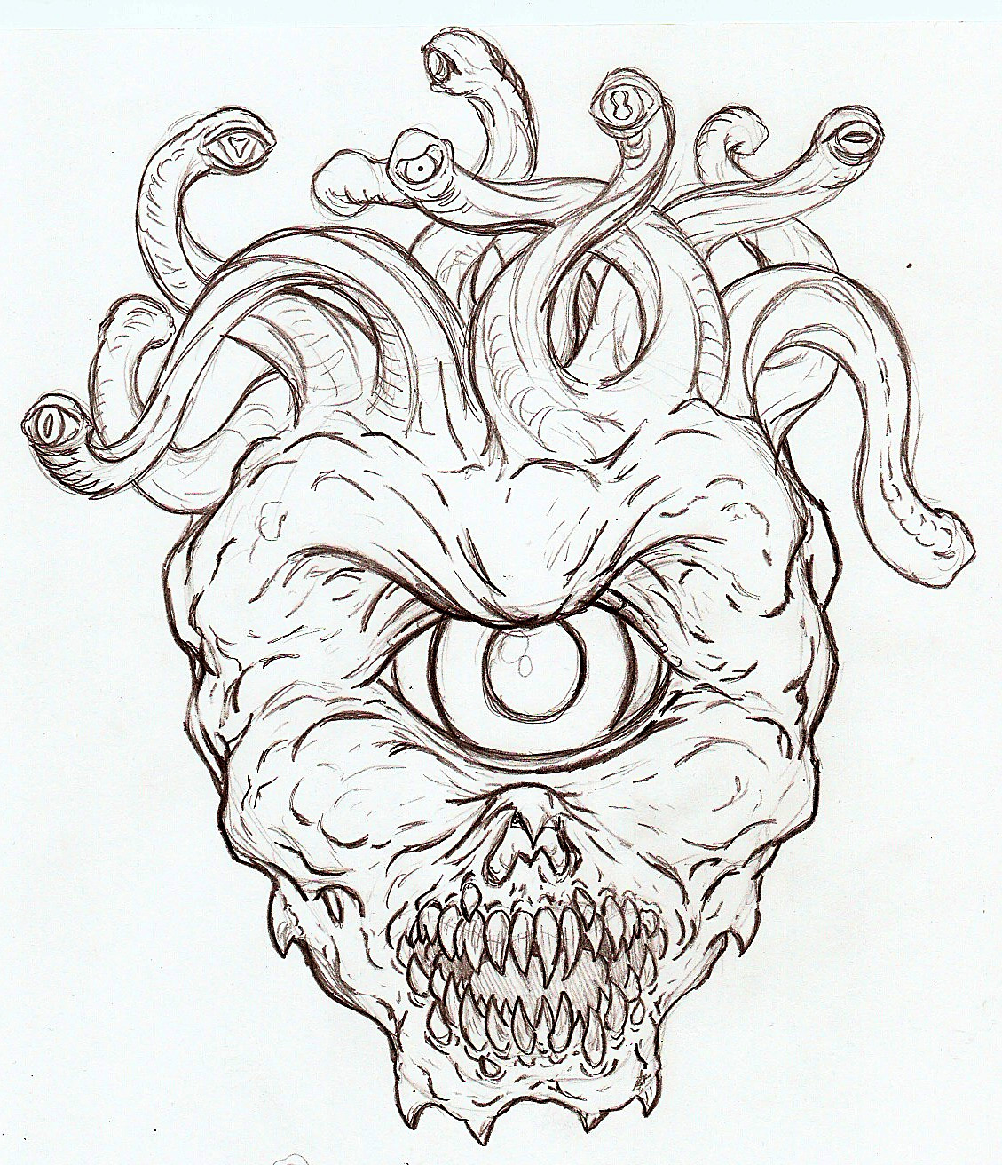 1129x1312 Scary Coloring Pages