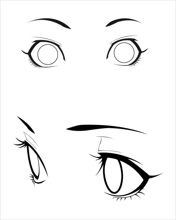 600x751 Anime Eyes Stock