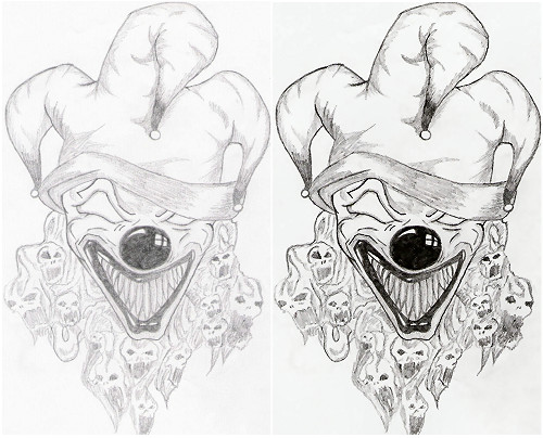 500x404 Scary Halloween Clowns Drawings Fun For Christmas